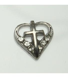 Charm kruis in hart