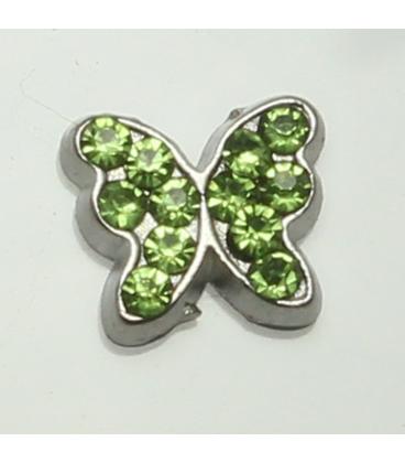 Charm Vlinder groen