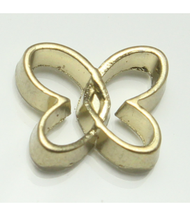 Charm vlinder goud open