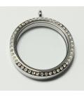 Memoria Locker zilver strass 35mm