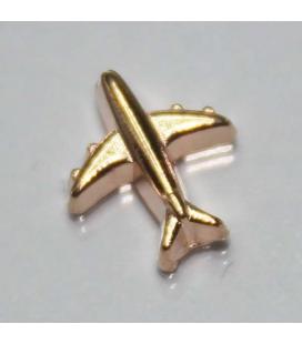 Charm Vliegtuig (goud)